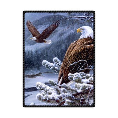 CADecor Winter Snow Eagle Tree Fleece Blanket Throws 58x80 inches](Blanket Of Snow)