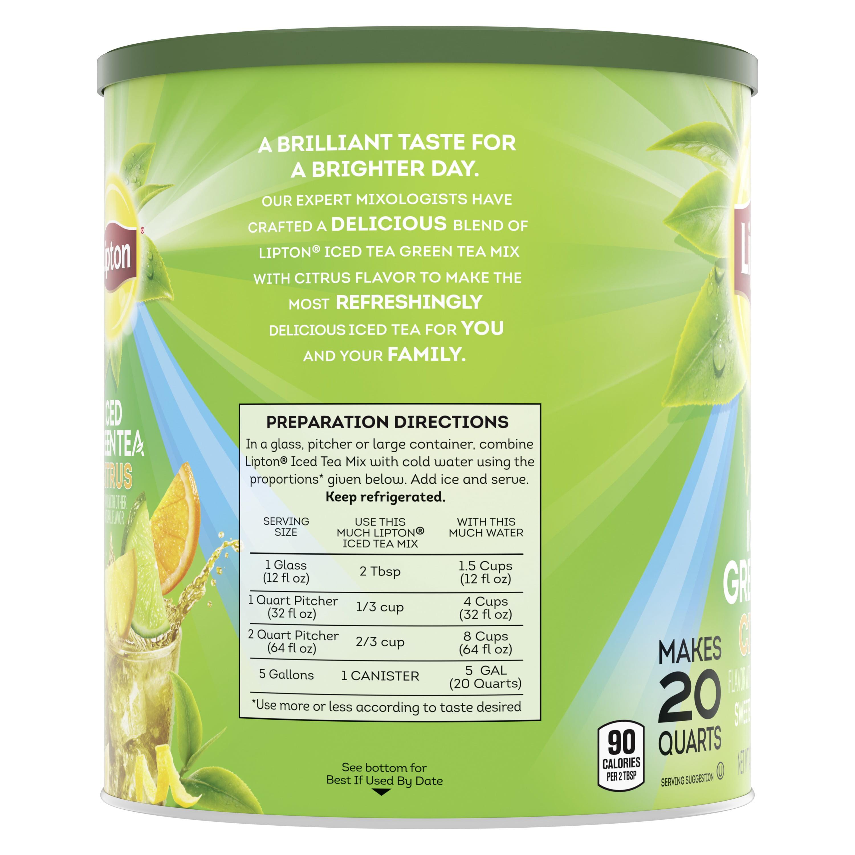 Lipton Green Tea Citrus, Iced Tea Mix