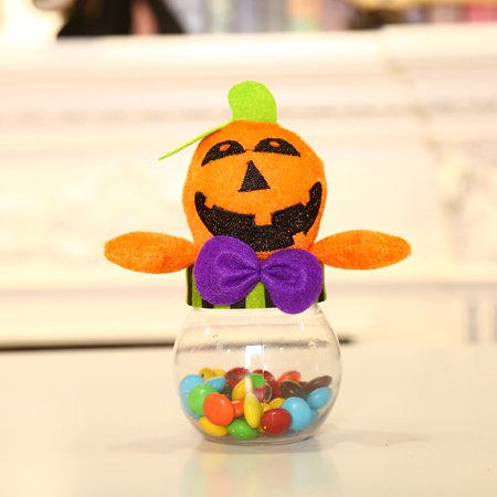 Pumpkin Ghost Shape Candy Box Funny Halloween Box Candy Jar Candy Transparent - Halloween Candy Food Stamps