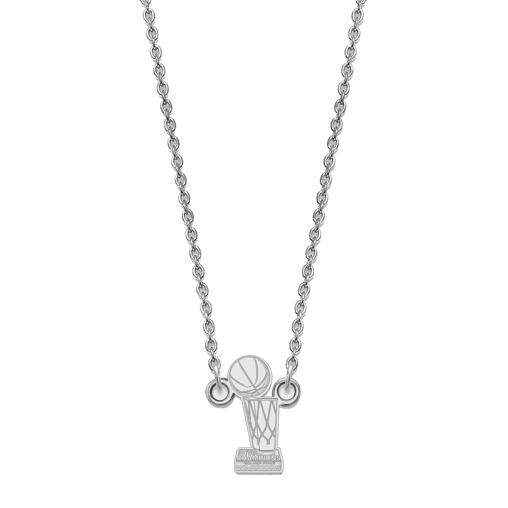 Golden State Warriors Women's 2017 NBA Finals Champions Sterling Silver Necklace - No Size