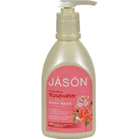 Jason Natural Products HG0224824 30 fl oz Body Wash Pure Natural Invigorating Rosewater - Jason Natural Products Fragrance