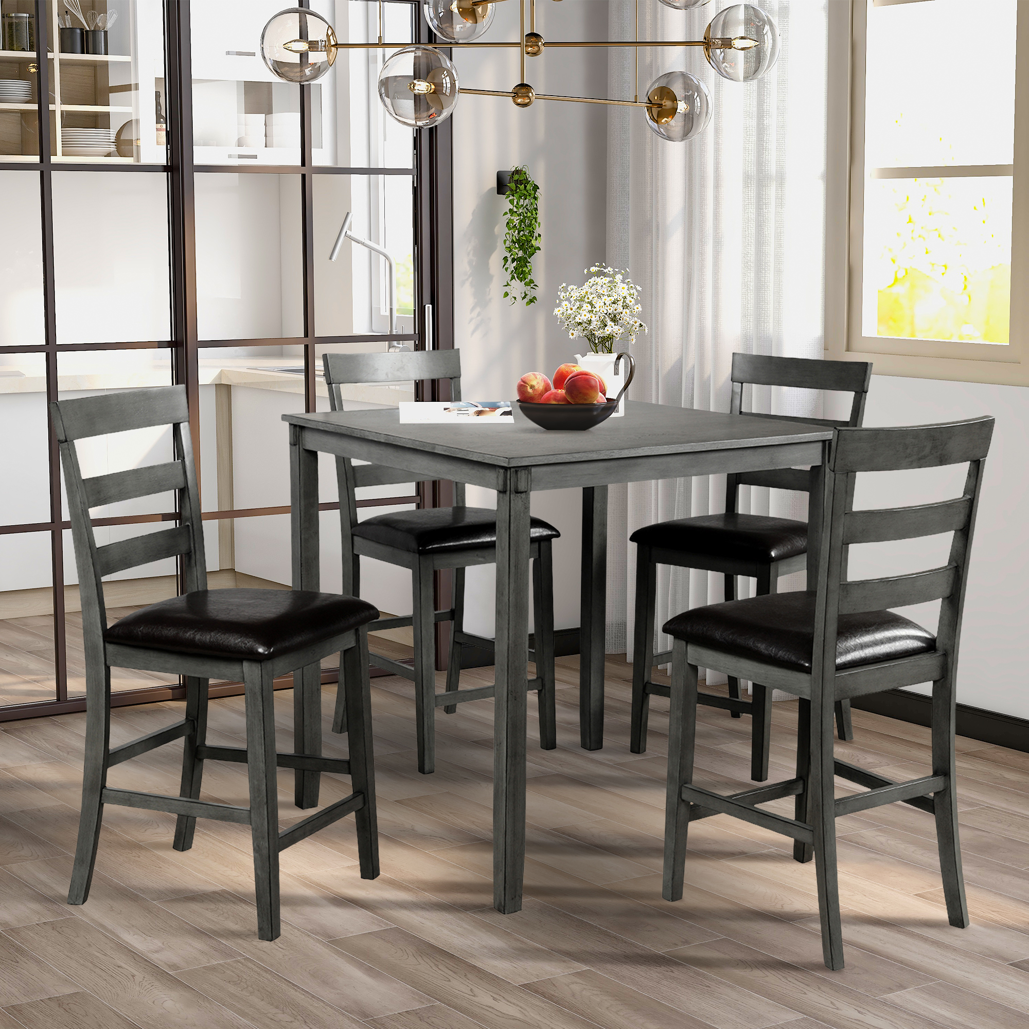 kitchen dining table set of 5 heavyduty wooden dining