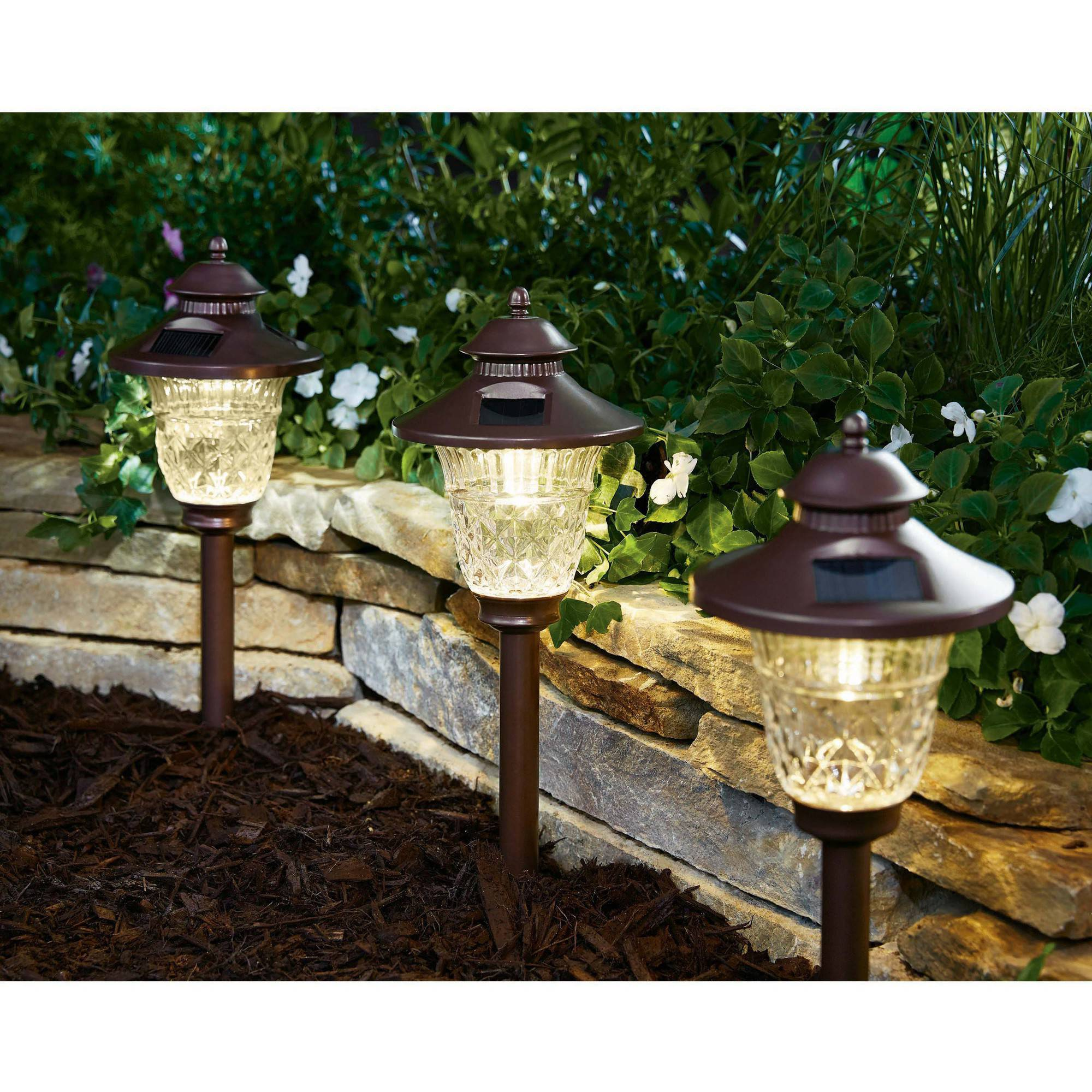 better homes and gardens crestwood cove landscape light walmartcom - Solar Landscape Lights