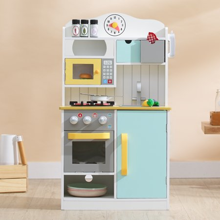 Teamson Kids Little Chef Florence Classic Play Kitchen - White / Green &