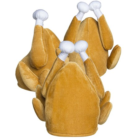 3 pack turkey hats funny thanksgiving outfit adult halloween costume accessory gift party favors