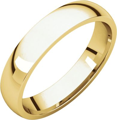 18kt Yellow 4mm Light Comfort Fit Band Irl10 / 18Kt Yellow / 04.00 Mm / Light Comfort Fit Band