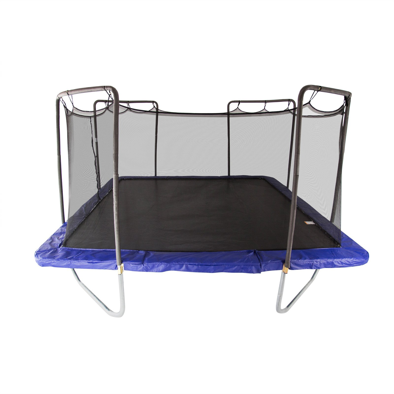 Skywalker Trampolines Square 15 x 15 Foot Trampoline, with Safety Enclosure, Blue