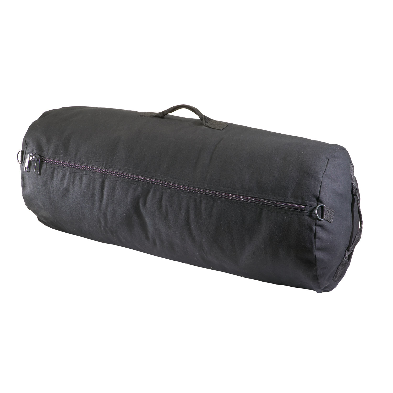 Texsport Zippered Durable PVC Material Canvas Outdoor Sports Duffle Bag, Black by Texsport