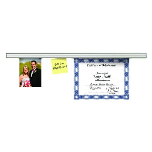 2 Feet Long Satin Finish Personal Size ADVANTUS Grip-A-Strip Display Rail