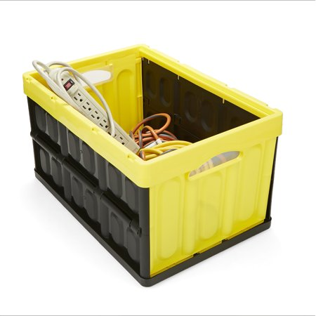 Mind Reader Heavy Duty Collapsible and Stackable Storage Bin/Container, Solid Wall Utility Basket/Tote, (Heavy Duty Collapsible)