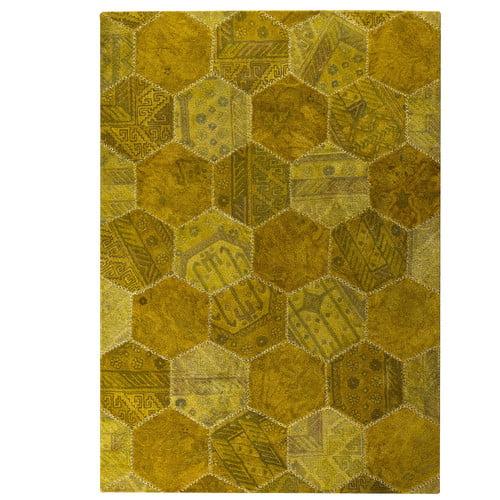 Hokku Designs Honey Comb Siena Gold Area Rug