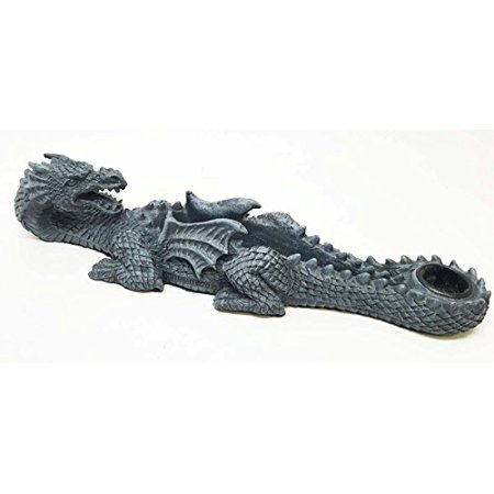 Ancient Oriental Dragon Surveying The Hills Incense Burner Aroma Scent Statue