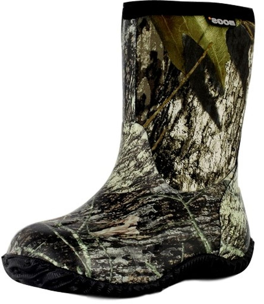 "Bogs Boots Boys Kids 9"" Classic Mid Rubber WP Mossy Oak 51366 by Bogs"