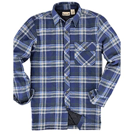 Backpacker Mens Flannel Shirt Jacket with Quilt Lining