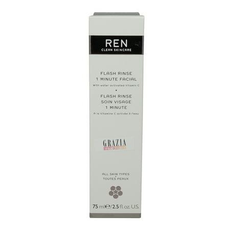 REN Skincare Flash Rinse 1 Minute Facial - 2.5 Oz