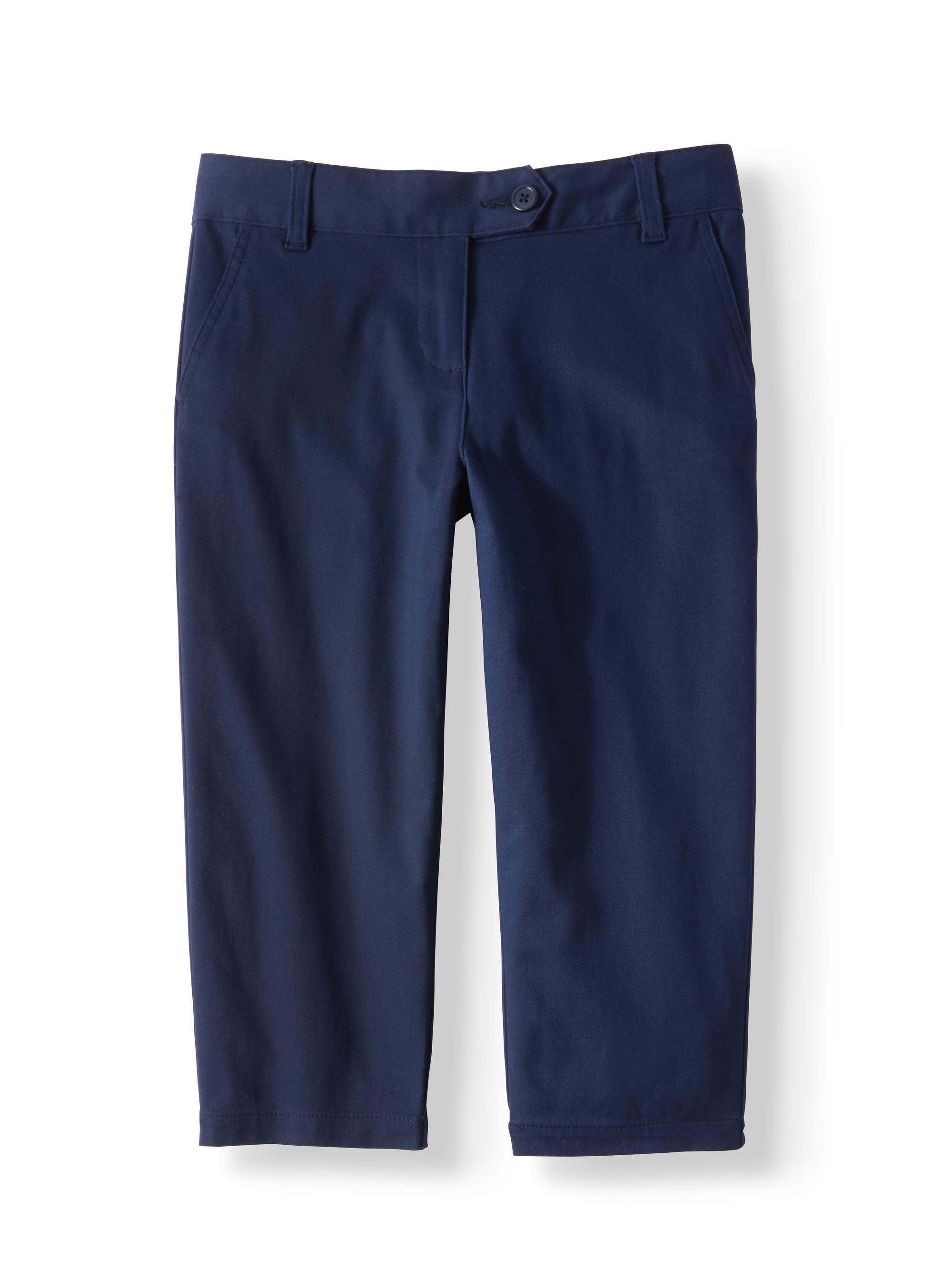 Girls' School Uniform Stretch Twill Capri