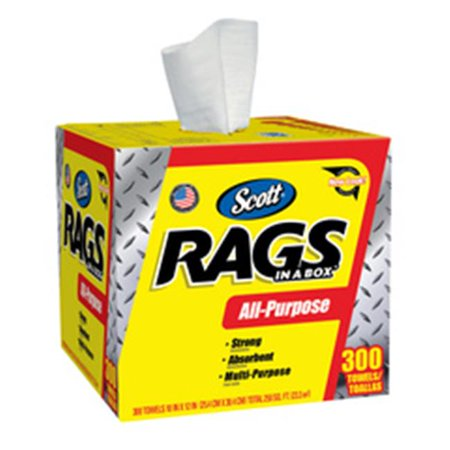 Kimberly-Clark Professional 412-75600 Scott Rags In A Box - 300Ct, White