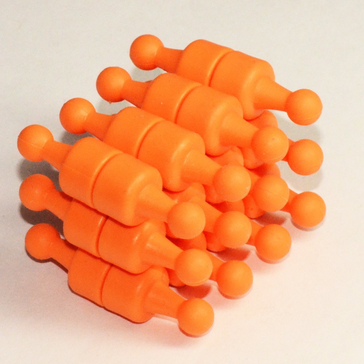 24 Ct. NeoPin® Orange Magnetic Push Pins - Super Strong Neodymium Magnets. Great for Magnetic Whiteboards, Refrigerators, other Applications