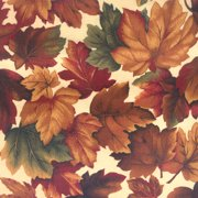 V.I.P by Cranston Deer Run Leaves Fabric, per Yard
