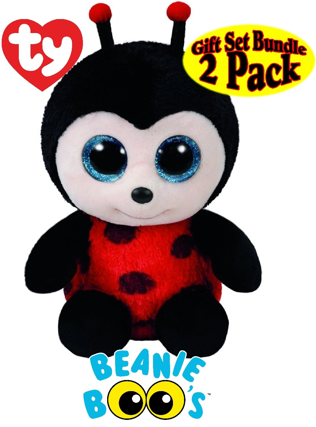 de7e9f5c8c0 Ty Beanie Boos Buzby (Bumble Bee)   Izzy (Lady Bug) Gift Set Bundle With  Bonus