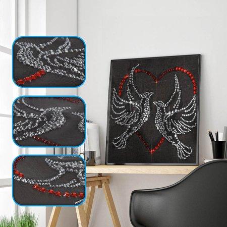 Ez Stitch - Fluorescent Diamond Painting DIY 5D Partial Drill Cross Stitch Kits Crystal Rhin
