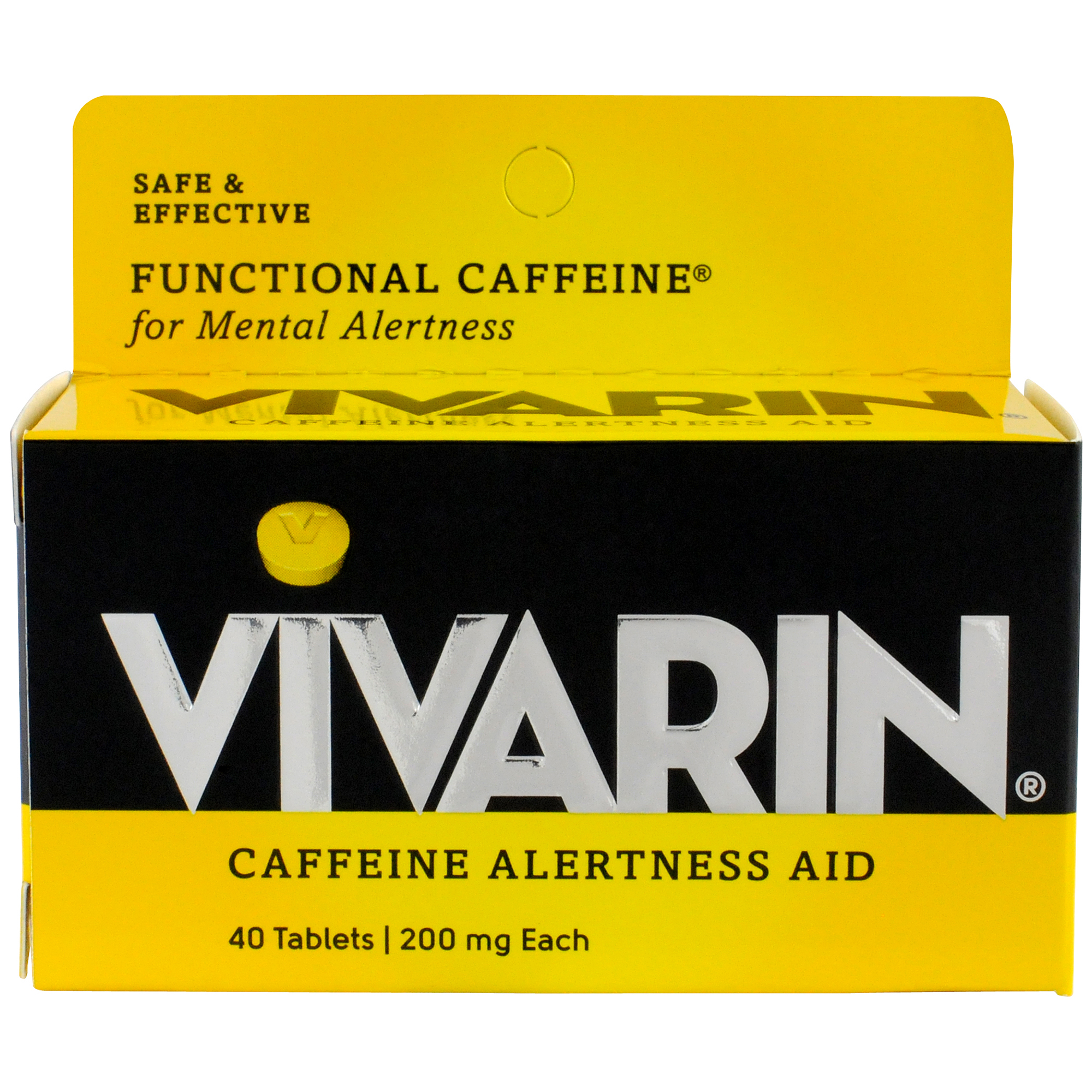 Vivarin Caffeine Alertness Aid, 200mg, 40 ct