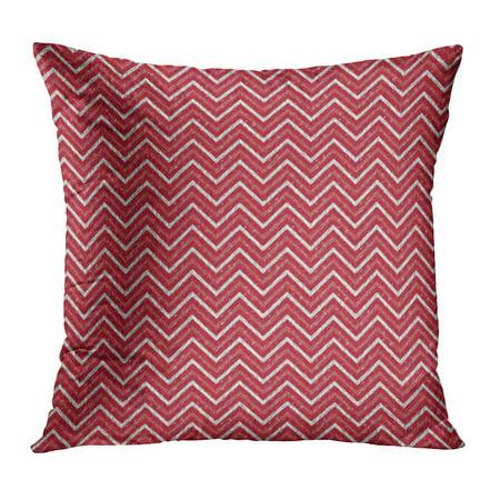 ECCOT Colorful Abstract Chevron Modern Pattern Red Batik Carpet Christmas Color Composition Pillowcase Pillow Cover Cushion Case 20x20