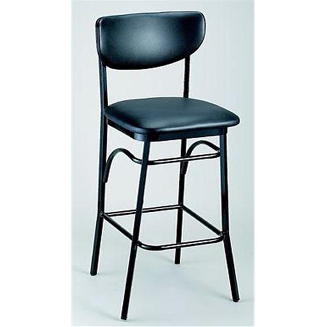 Alston Quality 1910 BS-Tan Paddle Back Stool 30 inch H Black Frame