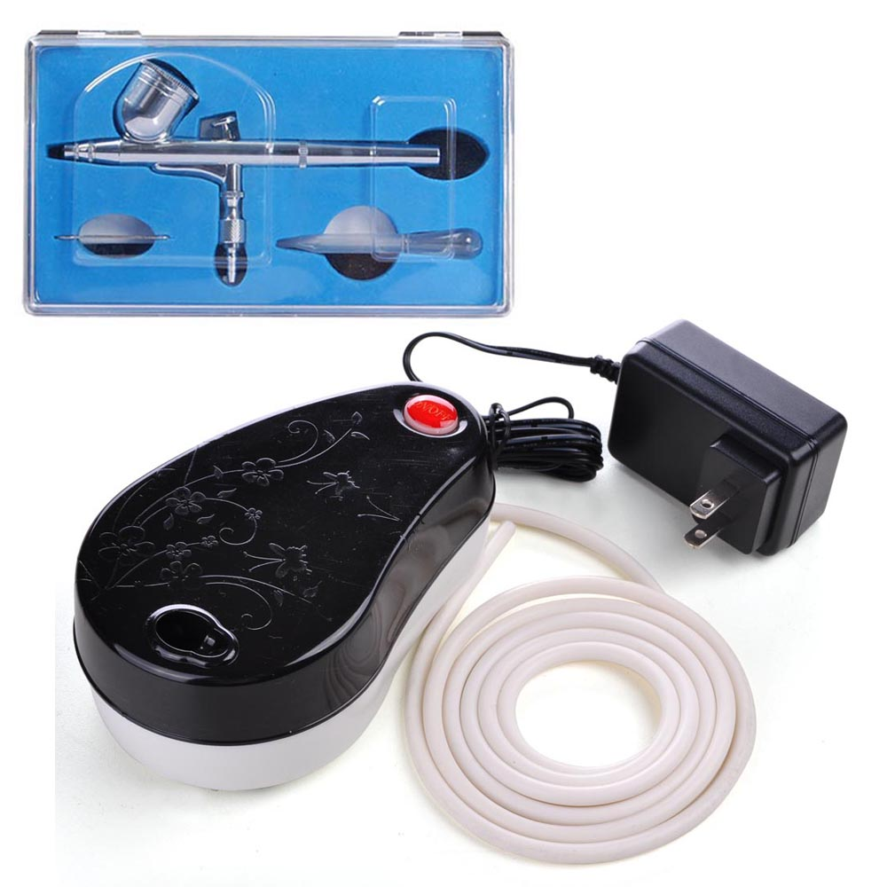 0.3mm Dual Action Spray Airbrush Makeup Air Compressor Kit Nail Cosmetic Beauty Salon