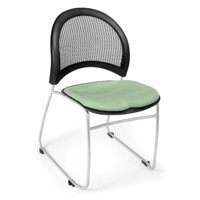 OFM Moon Fabric Stacking Chair in Sage Green