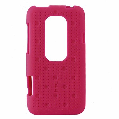 HTC Silicone Smerge Case for HTC EVO 3D - Raspberry (Refurbished)