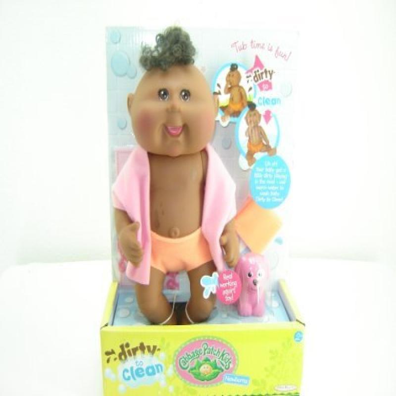 Jakks Cabbage Patch Kids Dirty to Clean Newborn Doll - Af...
