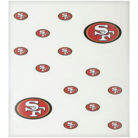 NFL San Francisco 49ers Peel & Stick Nail Tattoos 14 ct Pack (Nfl Tattoos)