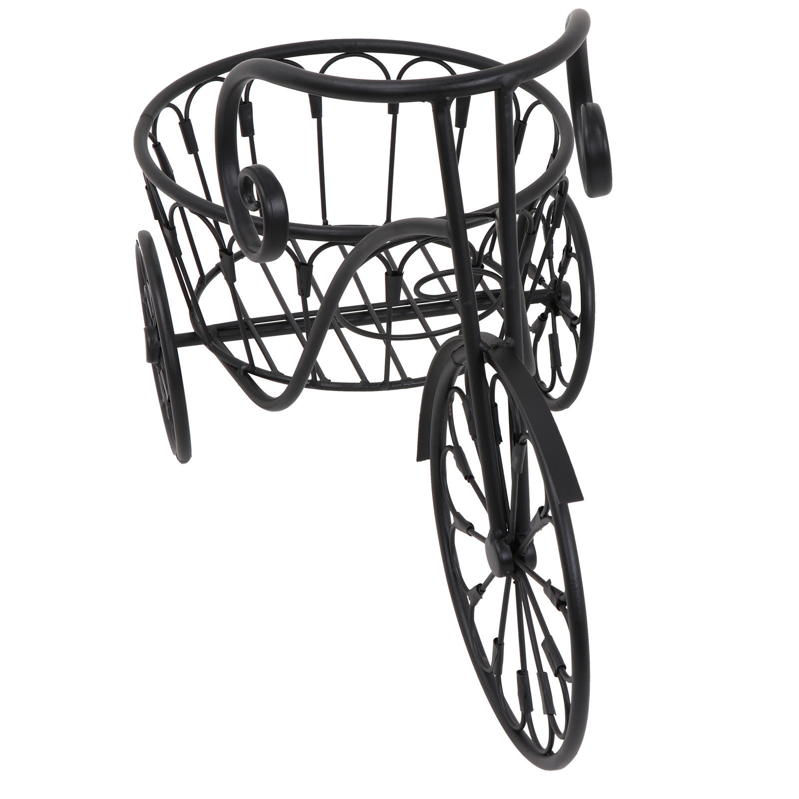 Zeny Bicycle Plant Stand Outdoor Home Garden Decor Iron Planter