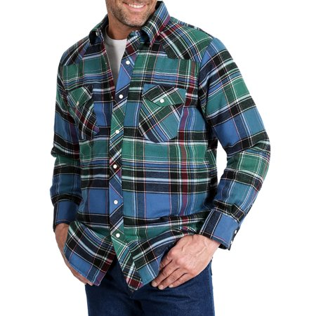 Wrangler Apparel Mens   Classic Quilted Plaid Flannel S Blue/Maroon Carhartt Quilted Flannel