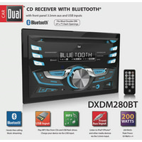 Dual Electronics DXDM280BT- Double DIN In-Dash Car Stereo with Built-In Bluetooth, CD, USB, MP3 & WMA Player
