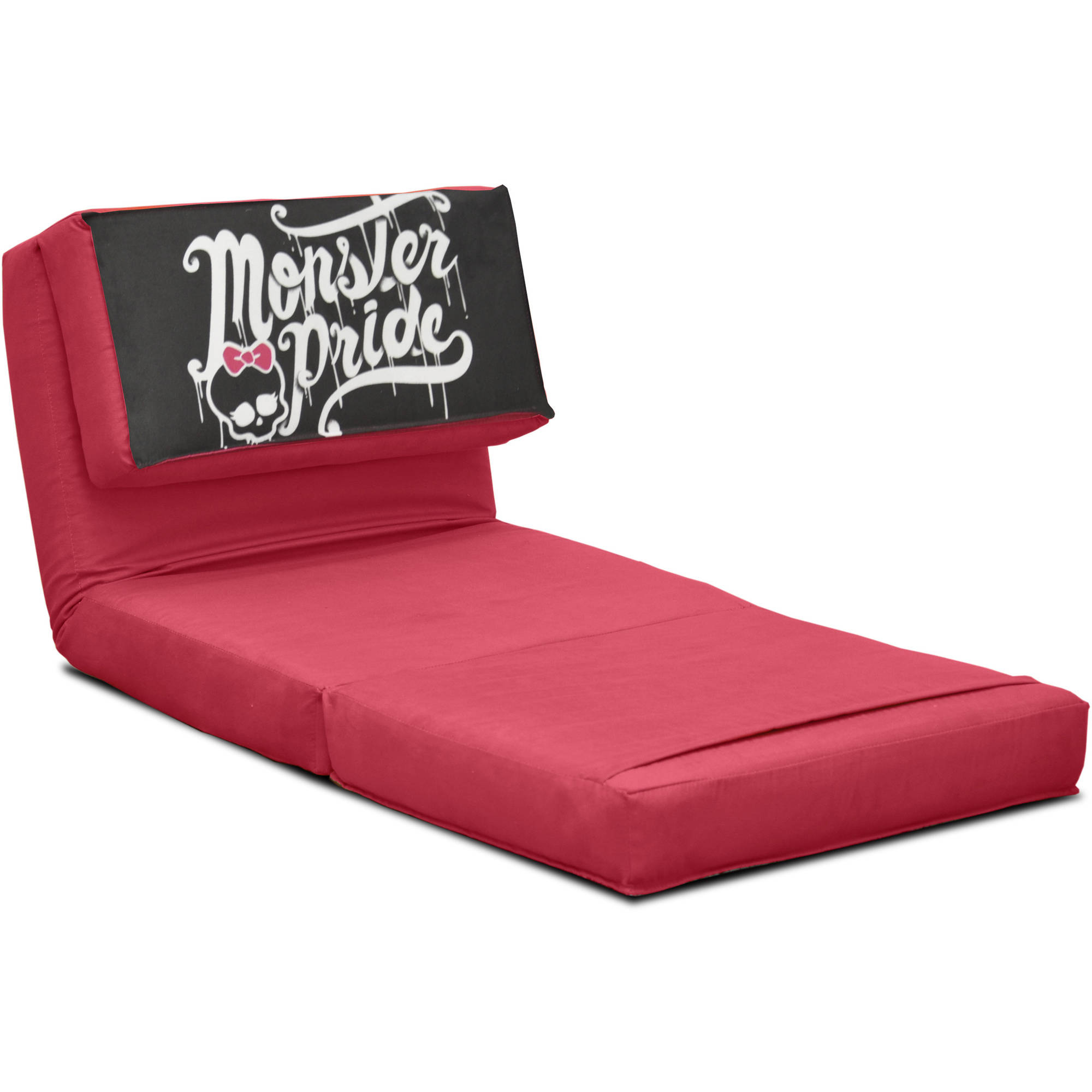 New Pink Monster Pride High Flip Kids Chair Bed with ...