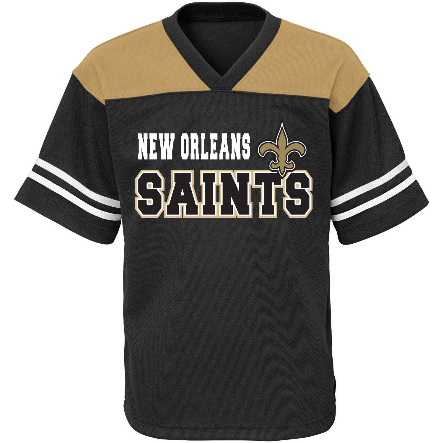 NFL Boys' New Orleans Saints Short Sleeve Mesh Team Top