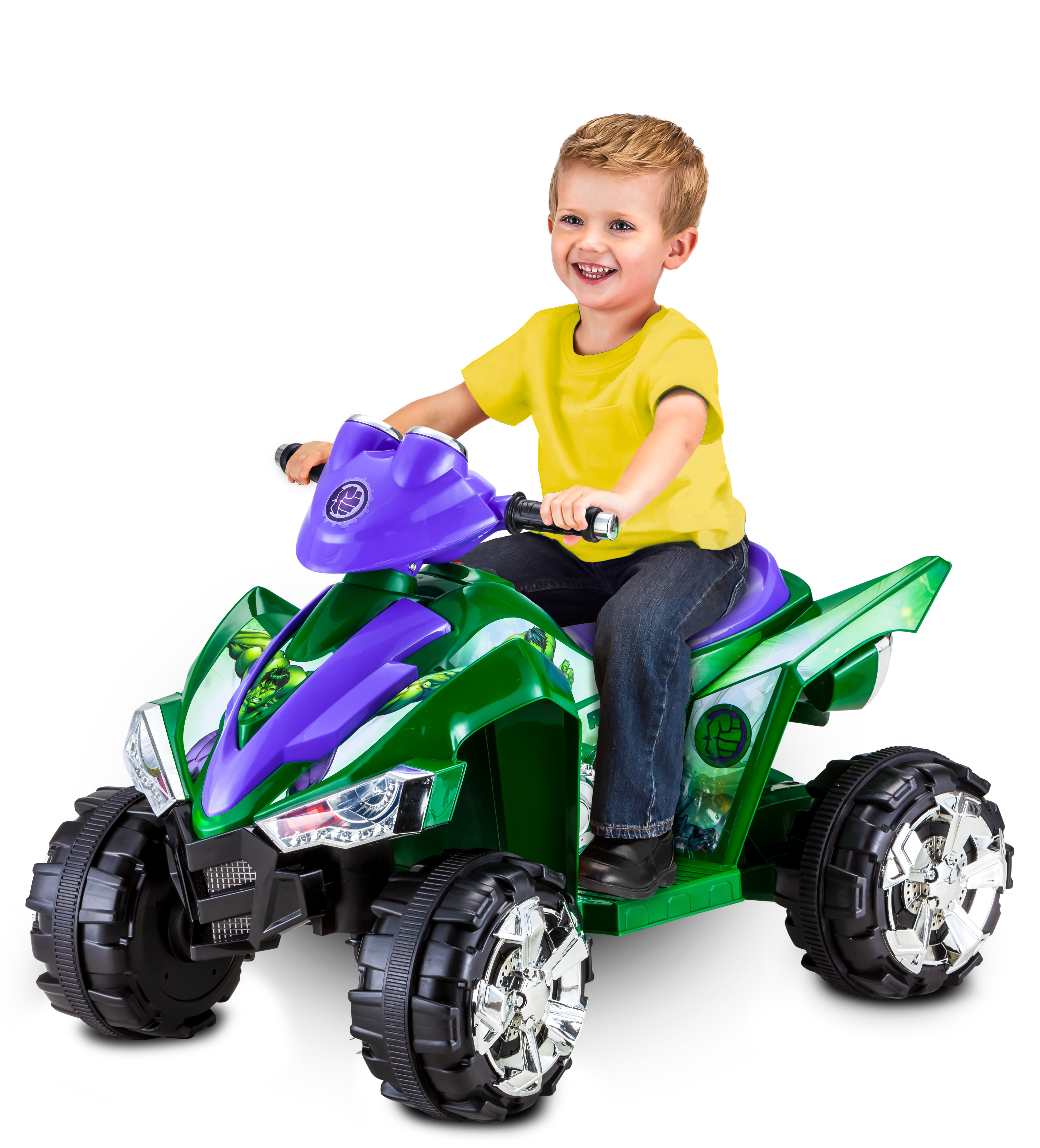 Kid Trax Marvel Hulk 6V Battery Powered Quad, Green