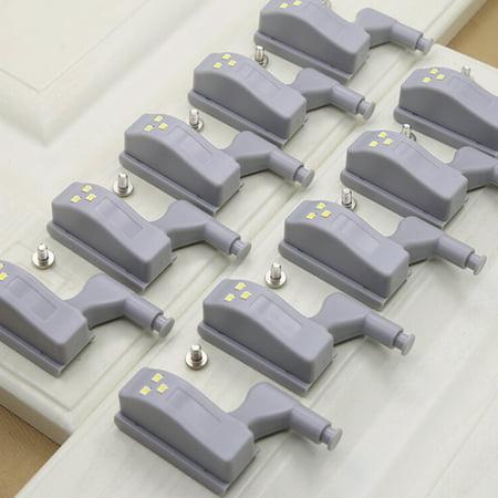 Universal Cabinet Hinge LED Sensor Light For Kitchen Living Room Bedroom Cupboard Closet Wardrobe Lamp - image 6 of 7