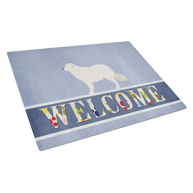 Carolines Treasures BB8305LCB Kuvasz Welcome Glass Cutting Board - Large - image 1 of 1