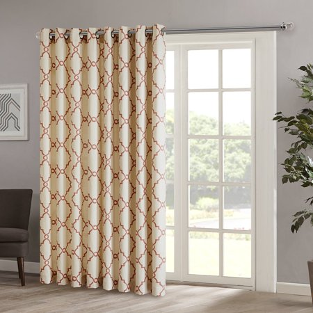 saratoga fretwork print patio window curtain 100 x 84 spice set include 1 window curtain by. Black Bedroom Furniture Sets. Home Design Ideas