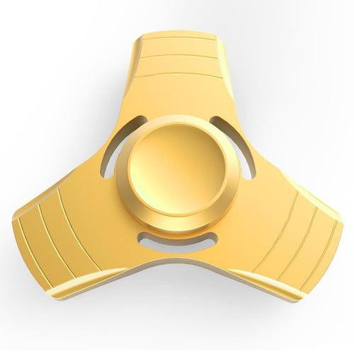 Fidget Spinner,Metal Hand Finger Tri Spinners - Bright