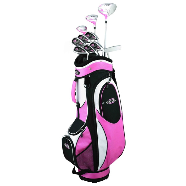 Golf Girl FWS2 PETITE Lady Pink Hybrid Club Youth Set & Cart Bag