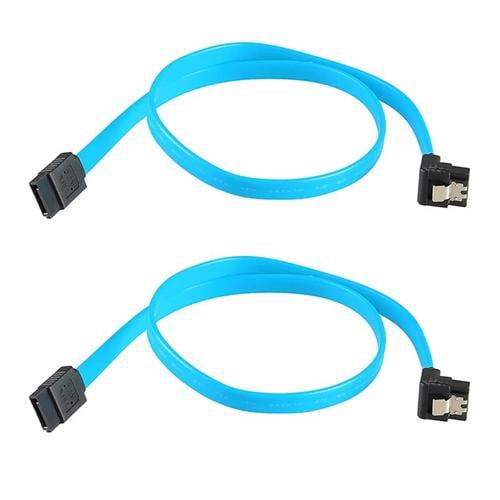 Insten 2-Pack SATA 3.0 III SATA3 SATAiii High Speed 6GB/s Data Cable Angle Blue