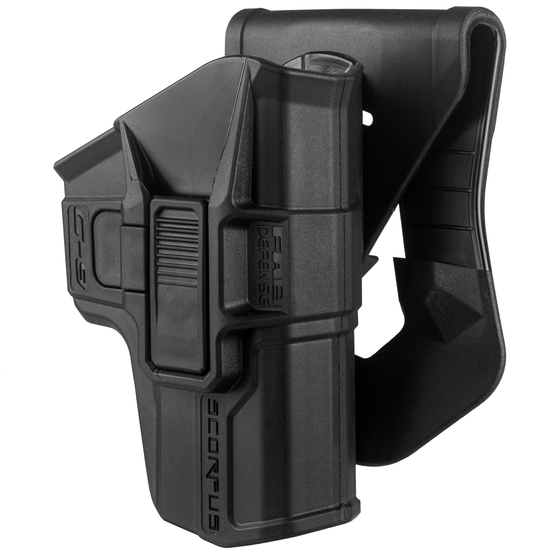 Mako Group Scorpus Paddle Belt Holster Glock 9 40, Swivel. Level II, Black, Right Hand by Mako Group