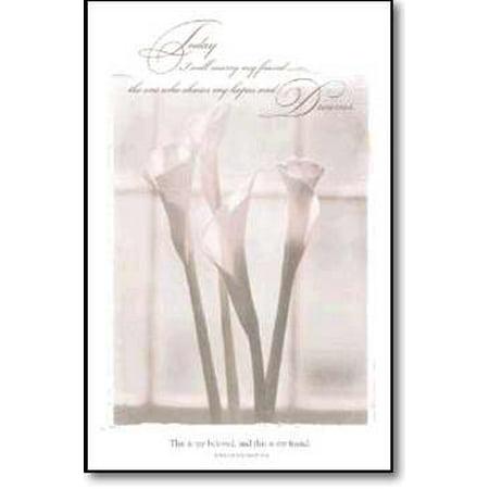 Warner Press 36304 Bulletin - W-Today I Will Marry My Friend](Wedding Bulletins)