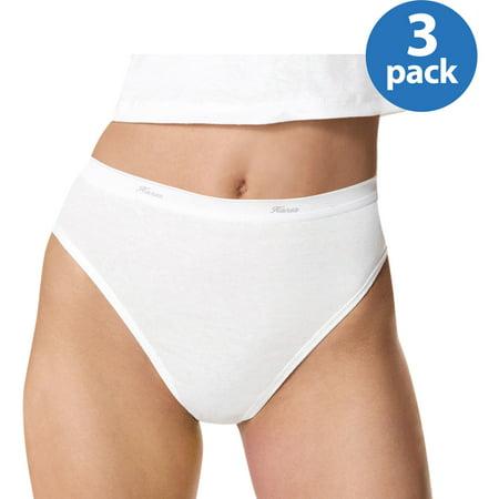 c9a4d484dcba Women's Cotton Hi-Cut Panties - 3 Pack - Walmart.com