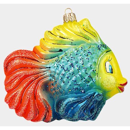 Colorful Tropical Fish Polish Mouth Blown Glass Christmas ...