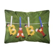 New Baby Clown Clothesline Canvas Fabric Decorative Pillow